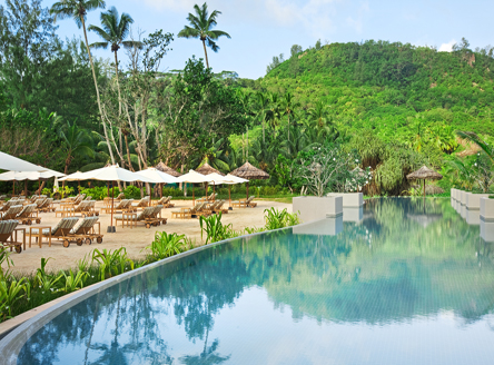 Main pool at Kempinski Seychelles Resort