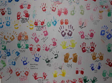 Hand wall at Kempinski Seychelles Resort Kids Club