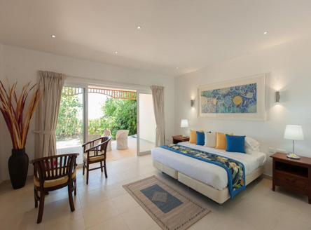 The spacious Deluxe Rooms at Acajou Hotel