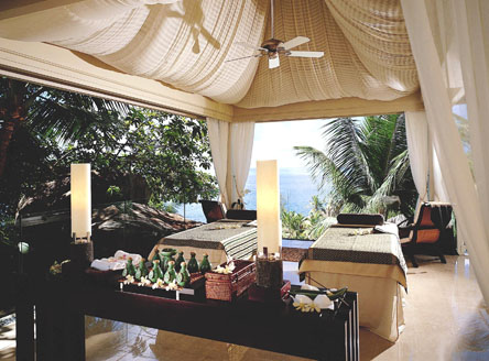 The renowned Banyan Tree Spa