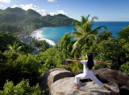 Yoga at Banyan Tree Seychelles!
