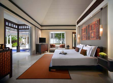 Room interior at Banyan Tree Seychelles