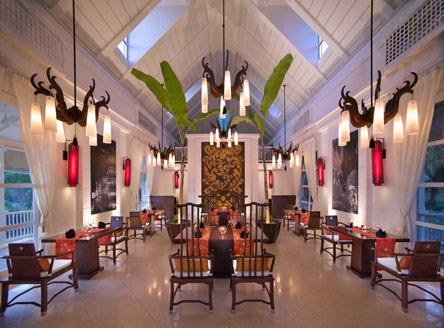 Saffron Restaurant at Banyan Tree Seychelles