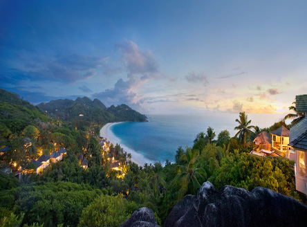 Stunning views over Banyan Tree Seychelles