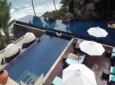 Main Pool Deck Area at Banyan Tree Seychelles