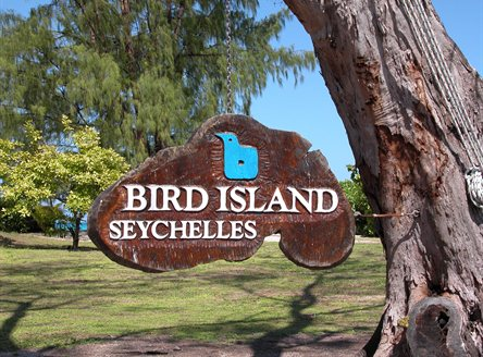 Bird Island in Seychelles