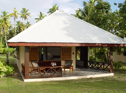 All bungalows have spacious verandahs on Bird Island Seychelles