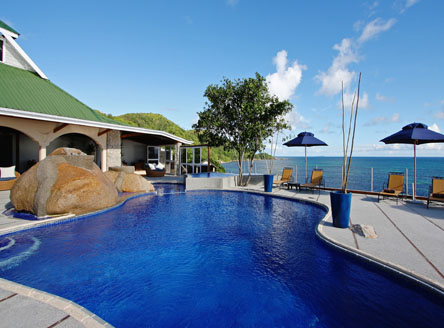 Exclusive pool area at Black Parrot Suites in Seychelles