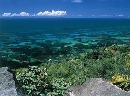 Gorgeous coast line at Black Parrot Suites On Praslin Island