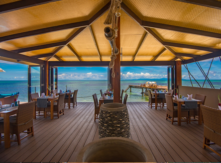 Terrace at the Coco de Mer Seychelles