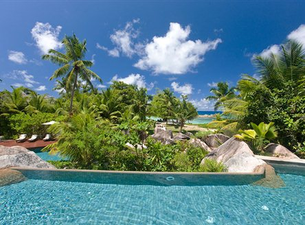 Constance Lemuria Resort has a fabulous 3-level swimming pool