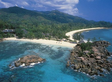 Constance Lemuria Seychelles is on the north west coast of Praslin