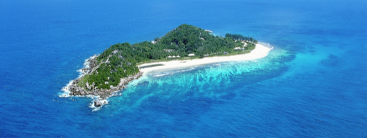 View of Cousine Island Seychelles