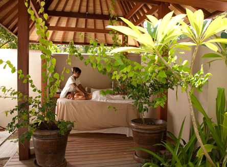 Spa treatments may be taken in the privacy of your cottage on Denis Island