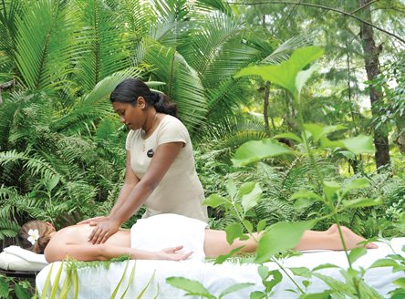 Relax at the Escape Spa at Desroches Island Seychelles