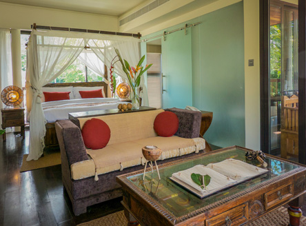 Luxury individually-styled Suite accommodation at Dhevatara