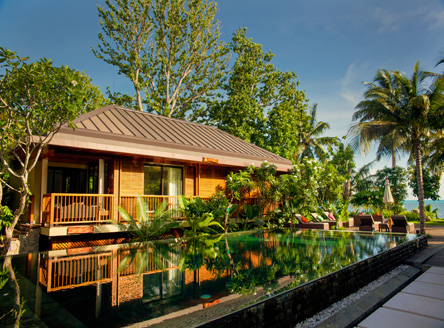 5-star Dhevatara hotel is set on Praslin Island's west coast
