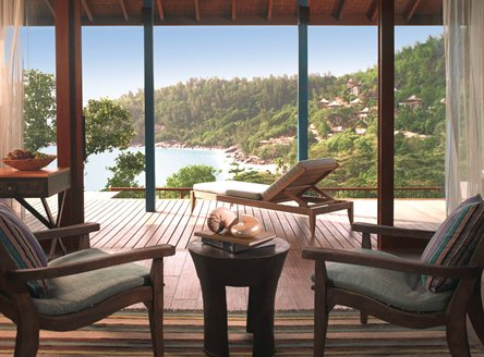 Panoramic views from all villas at Four Seasons Seychelles