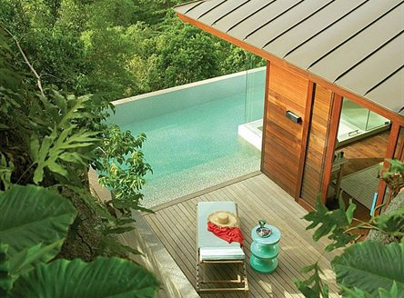 All villas have private plunge pool at Four Seasons Seychelles