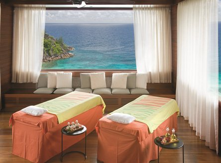 Magnificcent spa at Four Seasons Seychelles - with views to die for!