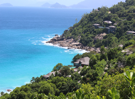 Resort view of Four Seasons Seychelles