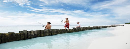 Family Fishing at Desroches Seychelles