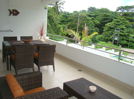 All apartments at Hanneman Holiday Residence include a balcony or terrace