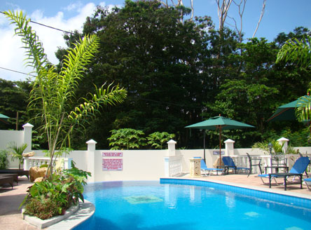 Hanneman Luxury Seychelles apartments include a fine swimming pool