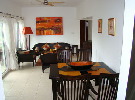 Spacious interior at Hanneman Holiday Apartments for your Seychelles holiday