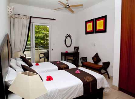 Apartment interior at Hanneman Holiday Residence Seychelles