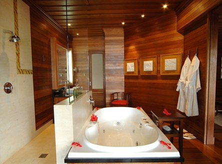Luxurious bathrooms at Hilton Seychelles Northolme