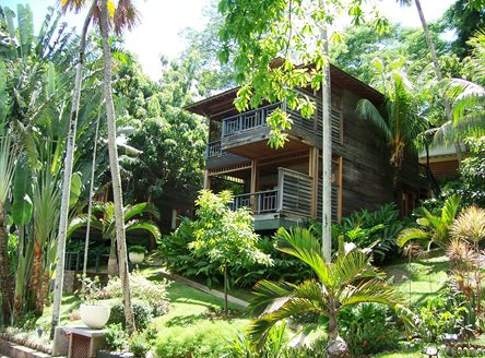 Villas are set in tropical gardens at Hilton Northolme