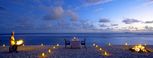 Romantic dining on your luxury holiday in Seychelles
