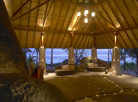 Hilton Labriz Seychelles fabulous Spa, set amongst giant granite boulders