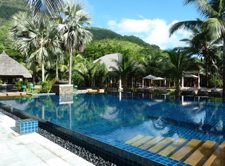 Main pool at Hilton Seychelles Labriz Resort & Spa