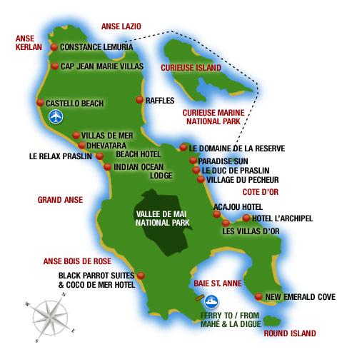 Seychelles Holidays Seychelles Map justseychellescom