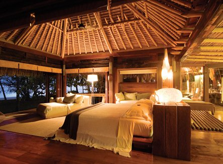Luxury villa interiors on North Island Seychelles