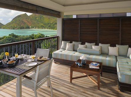 Private villa deck area - Raffles Seychelles