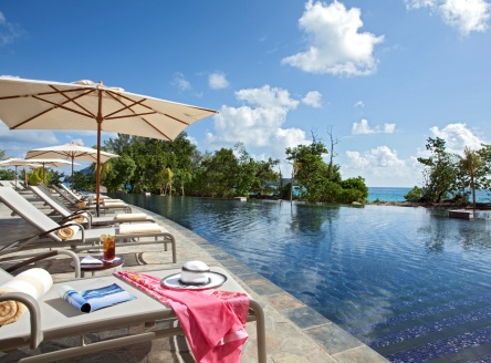 Main pool at Raffles Praslin