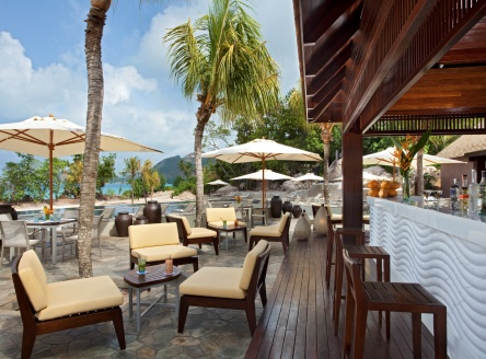 Pool bar at Raffles Seychelles