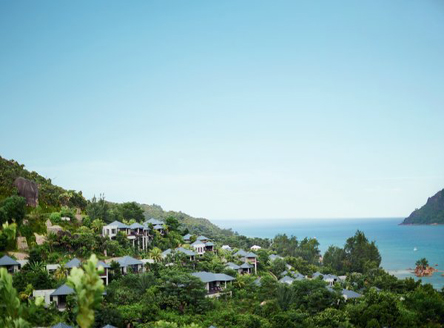 Raffles Seychelles is set in tropical hillside gardens