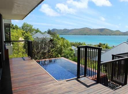 Fabulous views from your villa at Raffles Praslin Seychelles